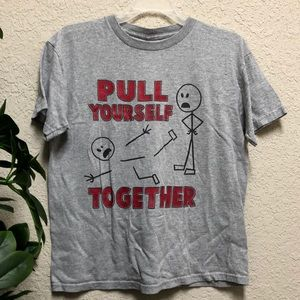 "🔺Funny ""Pull Yourself Together"" Stick Figure Tee"